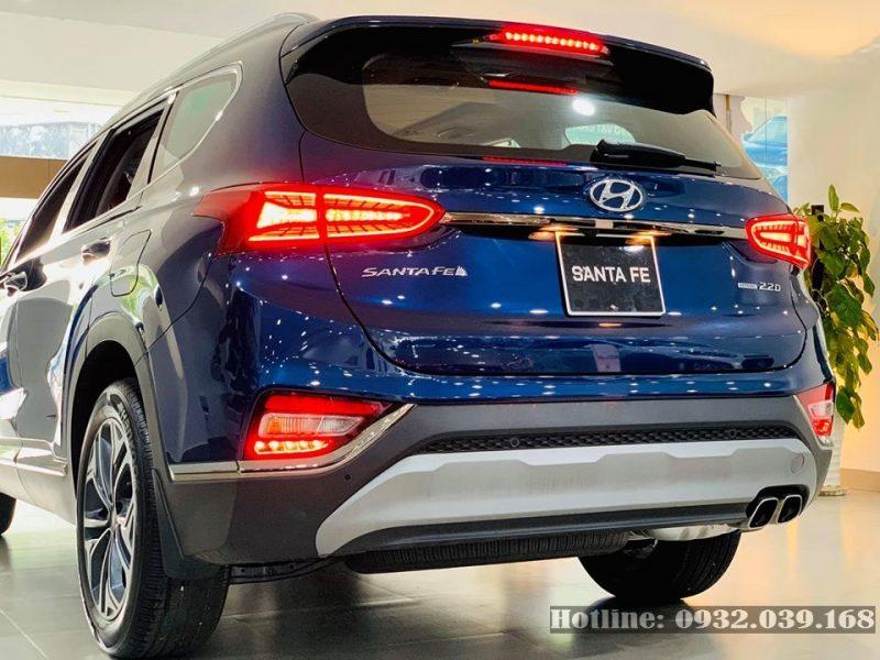 Xe Hyundai Santafe 2021 màu xanh nước biển