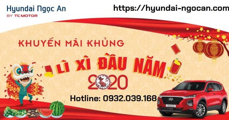 Lì xì đầu năm khi mua xe Hyundai tại Ngọc An